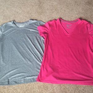 2 Nike dry fit XL shirts pink/gray